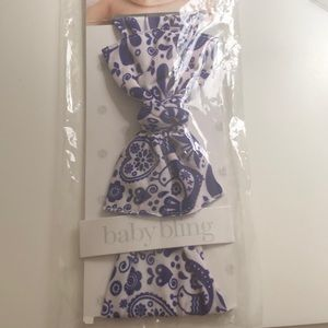Baby Bling Swiss Toile Bow